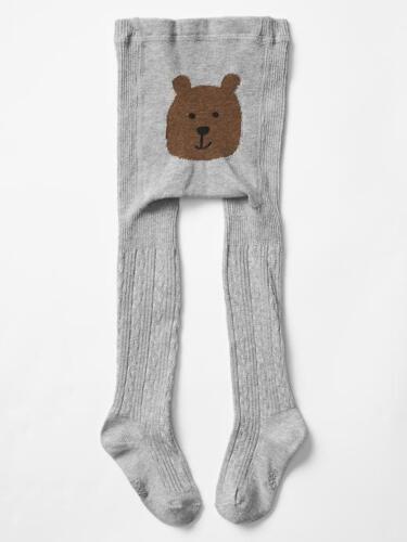 NWT GAP Cable Knit Bear Tights Bear Face Soft Bottom NEW Girls 12 24 2 3 4 5