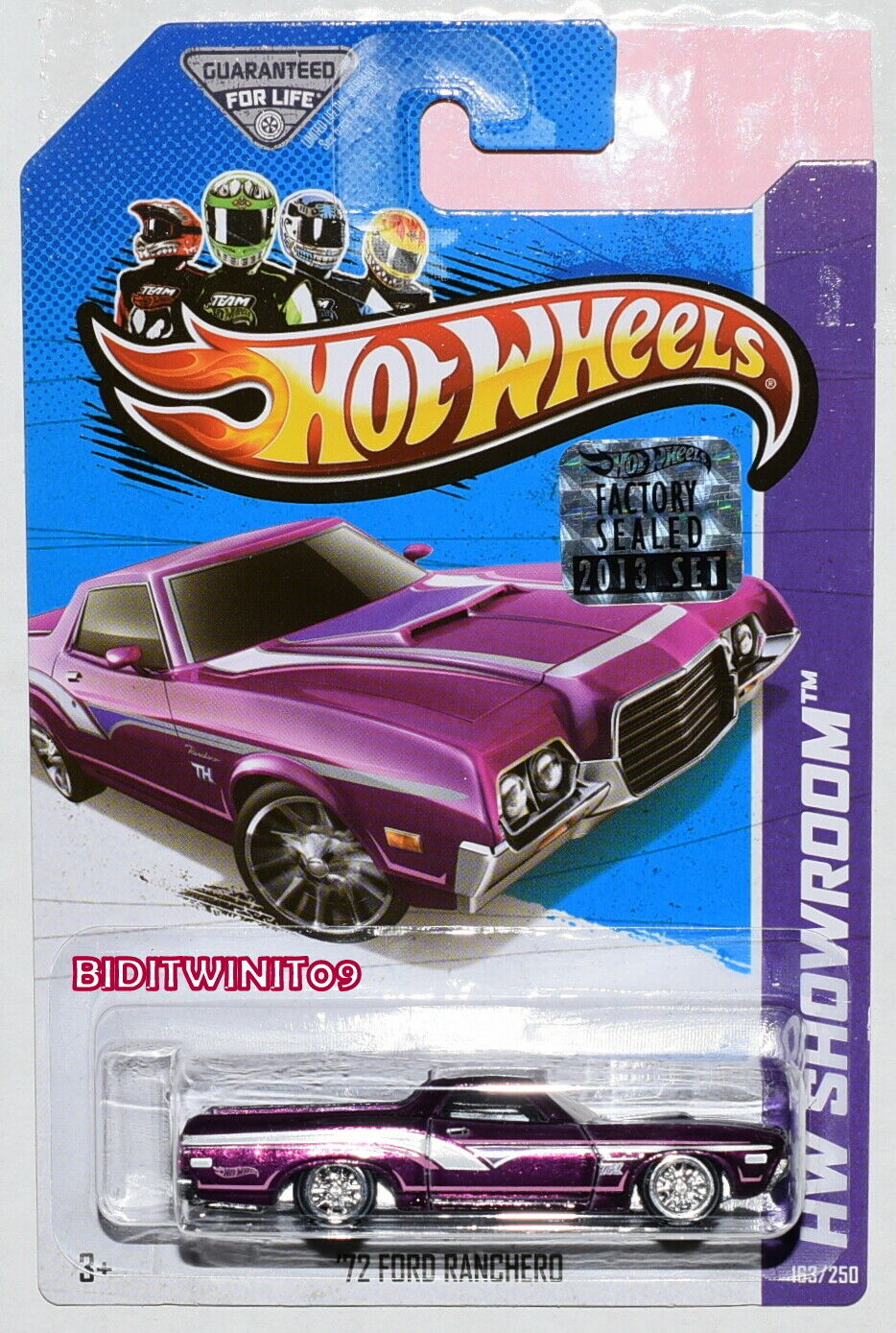 heta hjul 2013 Hw Showroom Super Treasure Hunt'72 Ford Ranchero Sigillato