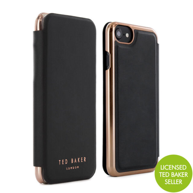 919e077ee OFFICIAL TED BAKER SHANNON Womens Mirror Case Fits iPhone 7   6S Black Rose  Gold