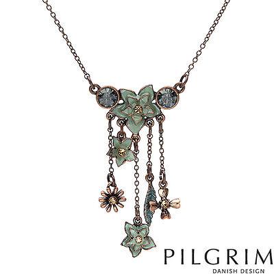 PILGRIM SKANDERBORG, DENMARK Necklace With Genuine Crystal
