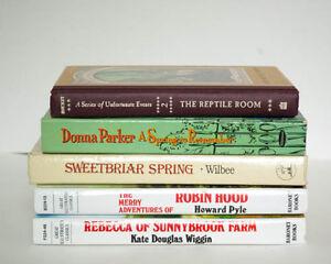 English-Young-Adult-Fiction-Lot-of-5-Books-Robin-Hood-Rebecca-Lemony-Snicket