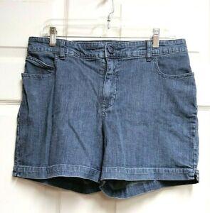 LEE-Just-Below-The-Waist-Women-039-s-Stonewashed-Denim-Blue-Jean-Shorts-Size-12M