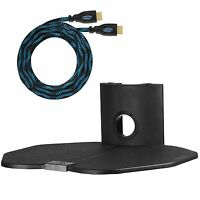 One Shelf Glass Universal Wall Mount Audio Video Dvd Ps Console Cable Management