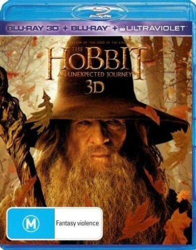 1 of 1 -  3D The Hobbit - An Unexpected Journey (Blu-Ray 3D + Blu-Ray + Ultraviolet)