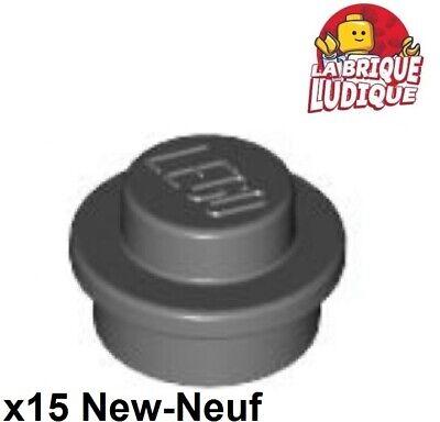 10x Plate Round plaque rond ronde 1x1 gris//light bluish gray 4073 NEUF Lego