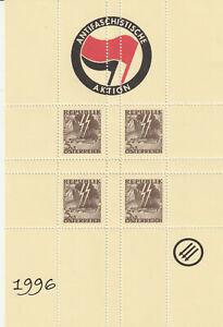 Antifaschistische-Aktion-1996-2-Gedenkbloecke-1A-Qualitaet-mit-Viererblock