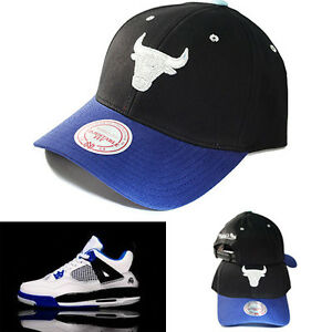 8c63f9fc7760e1 Mitchell   Ness Chicago Bulls snapback Dad Hat Match Air Jordan 4 ...