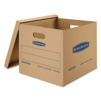 Bankers Box Smoothmove Classic Medium Moving Boxes 18l X 15w X 14h Kraft/blue 8 on sale