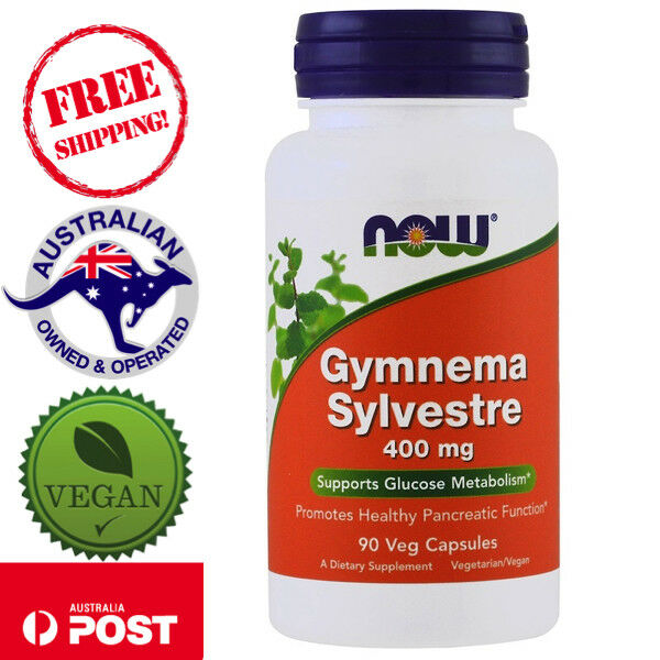 Now Foods Gymnema Sylvestre, 400 mg 90 Vegan Caps - Supports Glucose Metabolism*
