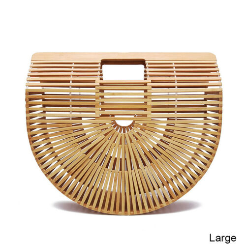 Fashion Women Straw Bag Rattan Woven Handbag Purse Crossbody Beach Summer Tote