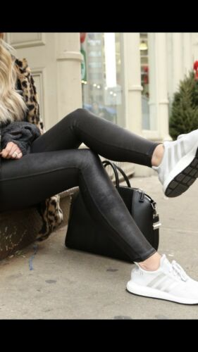 NWT Spanx Faux Leather Leggings Black Size L