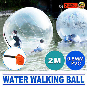2m Inflatable Walk on Water Walking Zorb Ball PVC Tizip Zipper