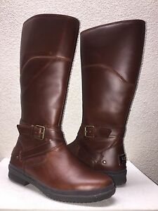 0f3b14e5725 Details about UGG EVANNA STOUT LEATHER RIDING WATER RESISTANT BOOT US 11 /  EU 42 / UK 9.5 NEW