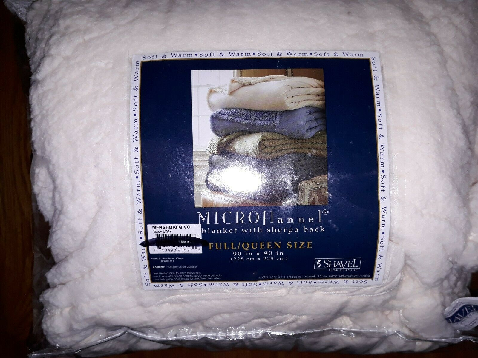 Shavel Micro Flannel Blanket With Sherpa Back For Sale Online