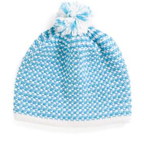 0cc18c295 Details about Pistil - NWT - Women's Blue & White Striped Merino Wool Blend  Beanie Pom Pom Hat