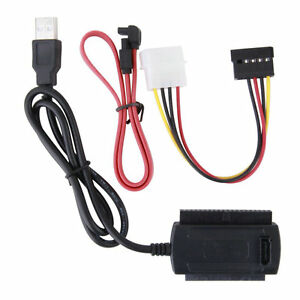 SATA/PATA/IDE Drive to USB 2.0 Adapter Converter Cable for 2.5/3.5 Hard Drive JK