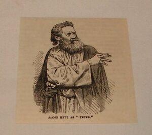 Pequeno-1880-Revista-Grabado-Actor-Jacob-Hett