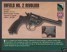 ENFIELD NO. 2 REVOLVER .38 WW2 Hand Gun Atlas Classic Firearms PHOTO CARD