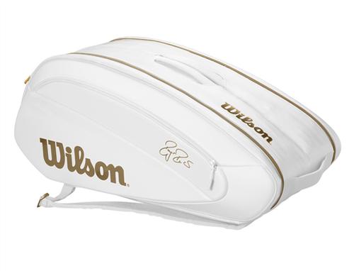 Wilson - WR8004401001 - Federer DNA 12 Pack Wimbledon Edition Tennis Bag - White