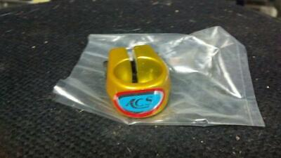 """Vintage NOS Old School BMX Bike ACS Silver Finished Seat Post Clamp 1/"""""""
