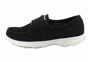 Details about SKECHERS WOMENS GO STEP DECK WALKING SHOES 14414BLACKWHITE