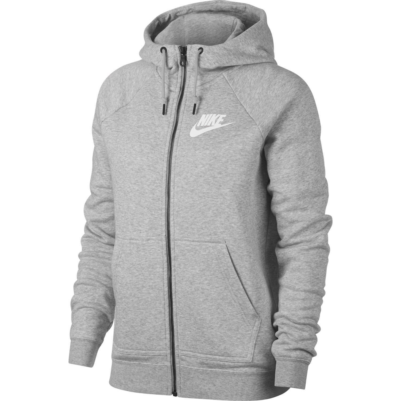 Nike Sportswear Rally Hoodie Womens 930909 050 Grey Full Zip