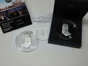 10-Silver-30-Years-Berlin-Wall-Removal-Pf-3-D-Technology-Immediately-Ex-Stock