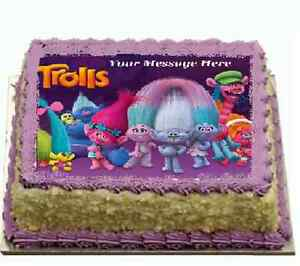Image Is Loading Trolls Edible Cake Topper Icing FONDANT Birthday