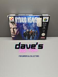 Hybrid Heaven-Nintendo 64-n64-pal-noe-Embalaje original-cib-Boxed