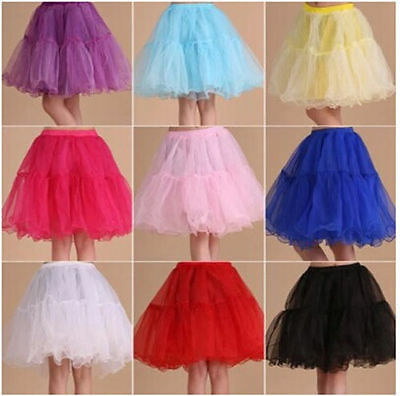 "9 Color Tulle Skirt 20"" knee length Crinoline Petticoat Tutu Dancewear Skirt"