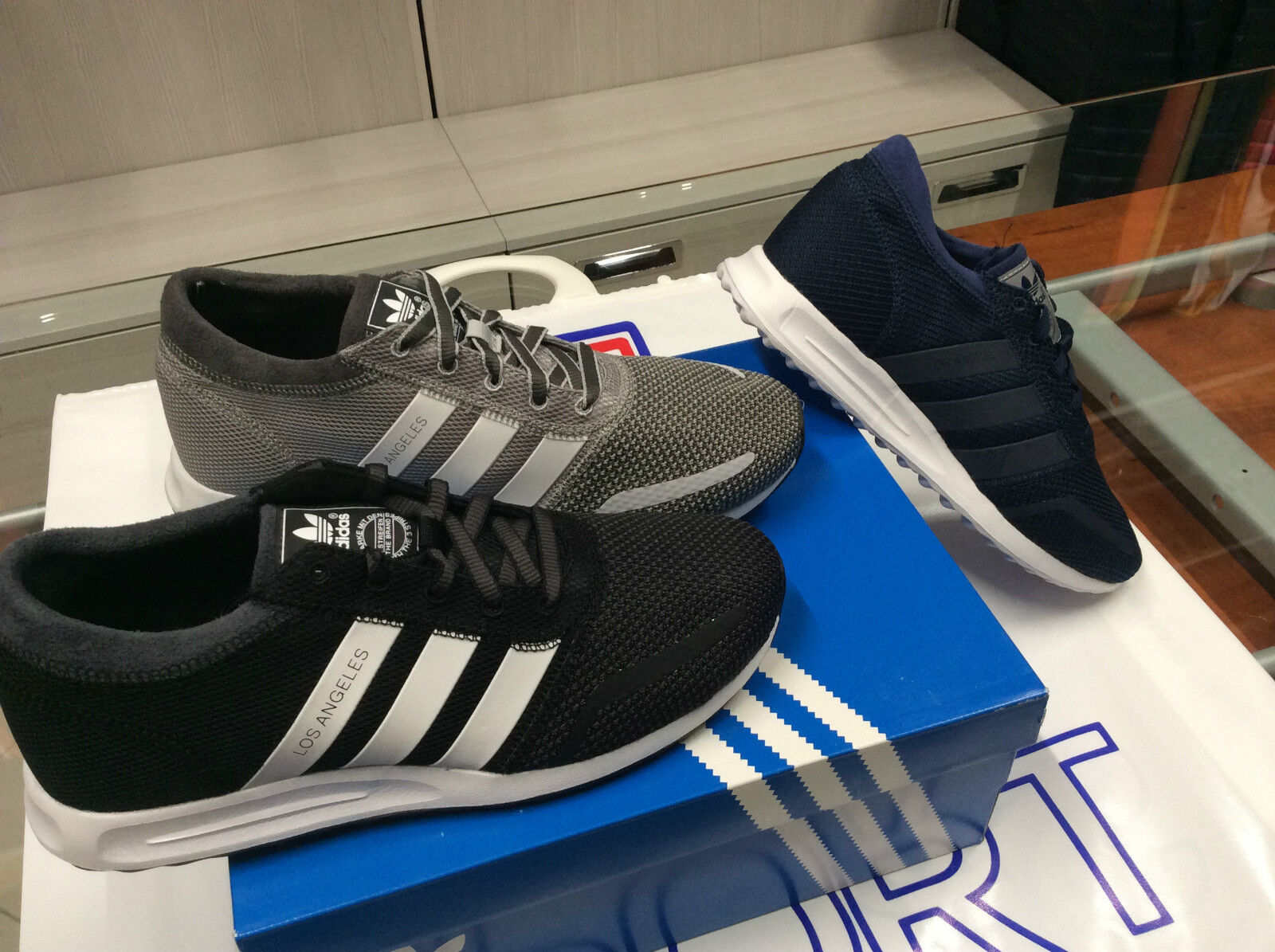 chaussure homme adidas los angeles s31532blu art.s79025grigio aq3199nero s79020 / s31532blu angeles b3070e