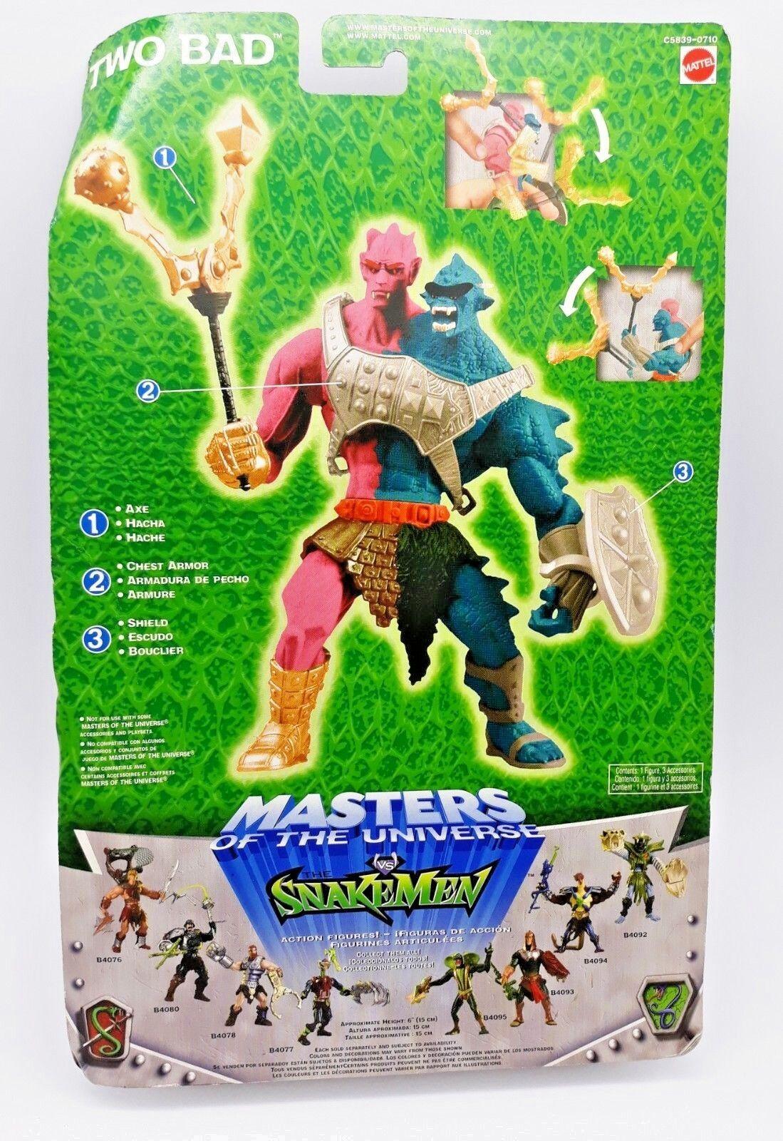2003 Series Series Series Modern Motu He-Man Masters of the Universe vs Snakemen Two Bad 7ea215
