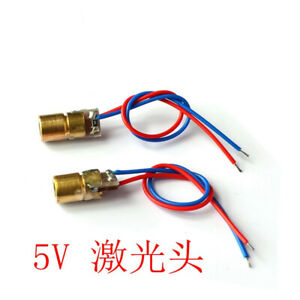 10pcs Laser Dot Diode Module Head WL Red mini 650nm 6mm 5V 5mW