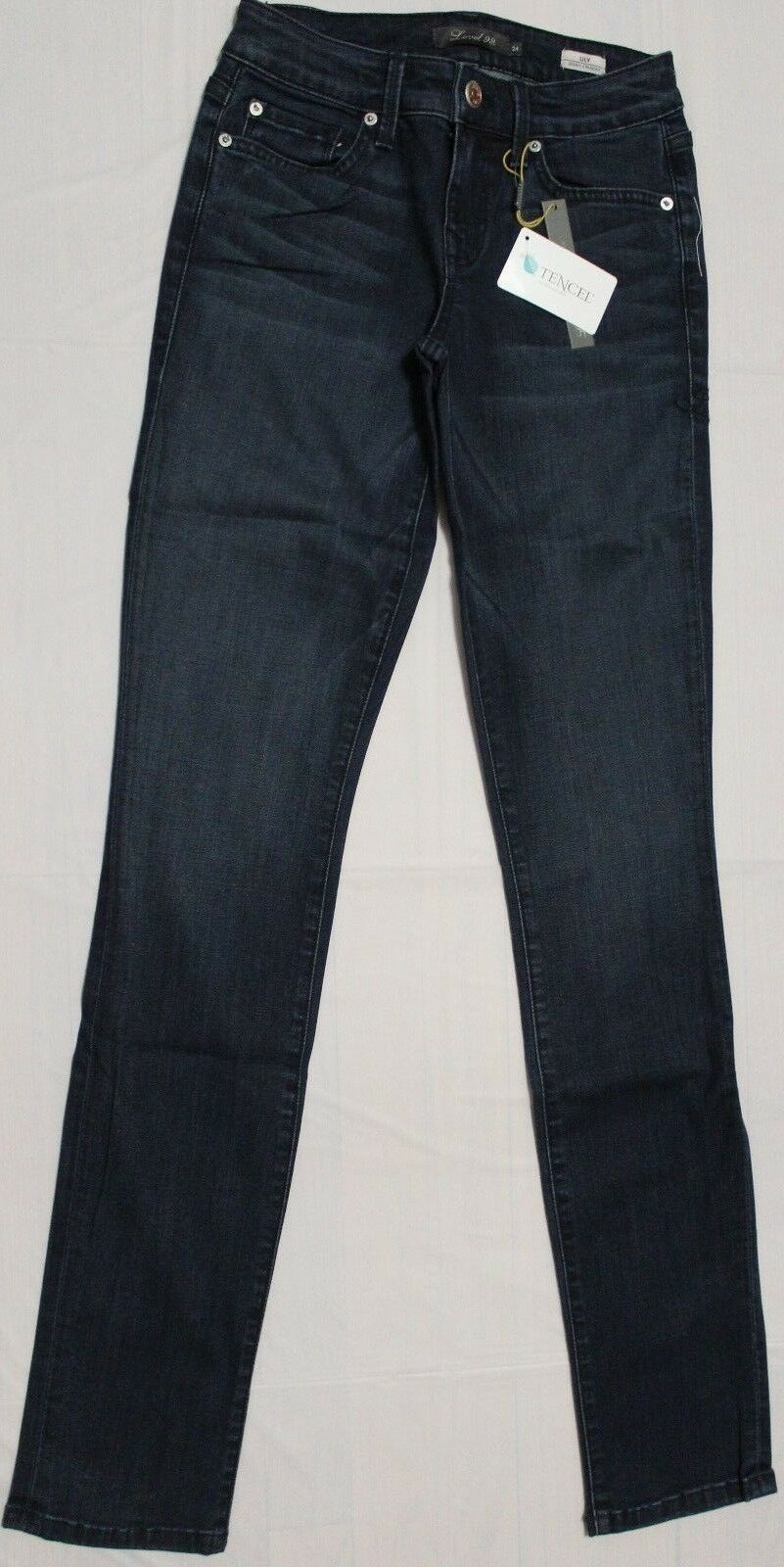120 LEVEL 99 LILY OCEAN SKINNY STRAIGHT JEANS US 24