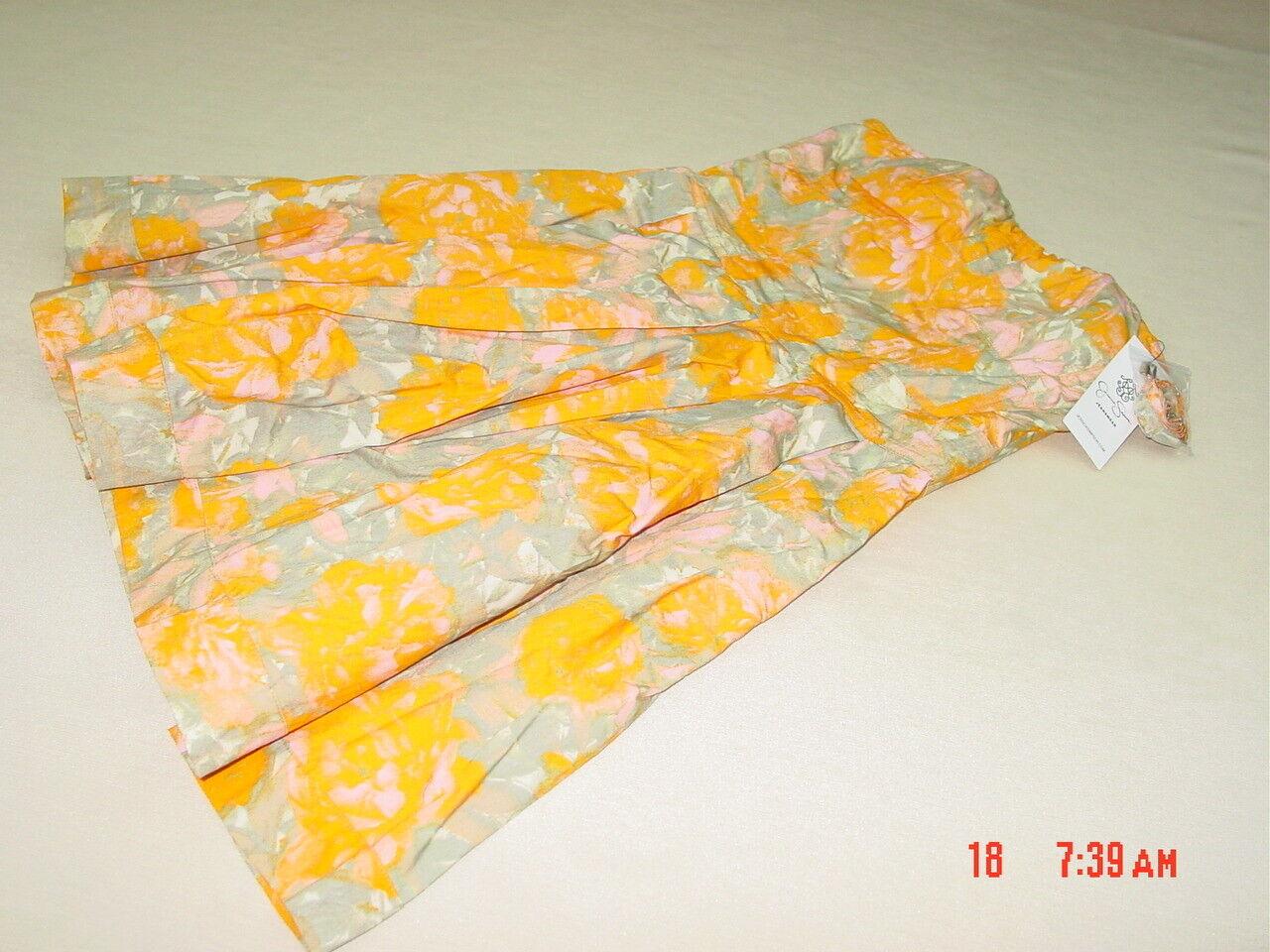 NWT Women's Women's Jessica Simpson Versatile Cyellow Mini Dress orange Floral