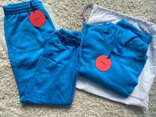 Pangaia SEA BLUE tracksuit hoodie S and track pants S GENUINE