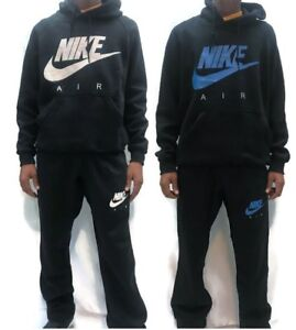 Nike-Mens-Overhead-Fleece-Tracksuit-Hooded-Jogging-Tracksuit-Top-Bottom-S-XL