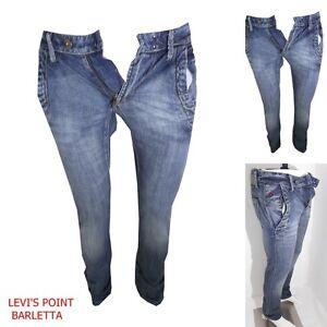 Jeans-slim-Fit-Chino-vita-bassa-Energie-Danko-Azzurro-Aderente-Taglia-W28-W33