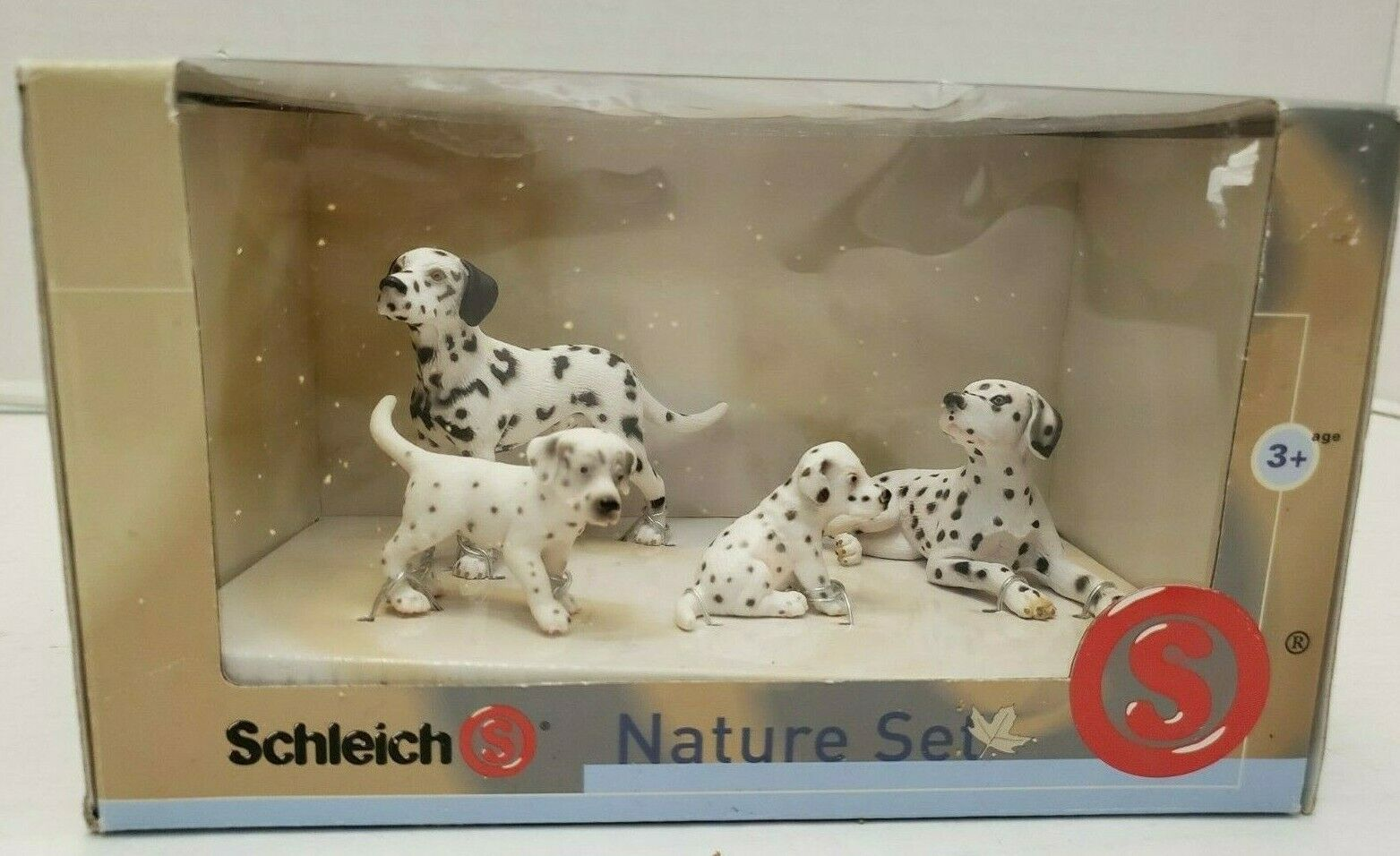 Schleich Dog Family Nature Set Dalmatian Mom Dad Puppy Girl Boy Animal Figure 3+