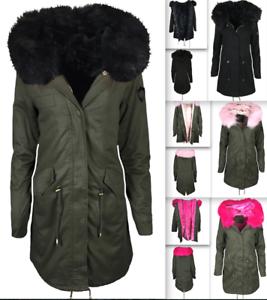 cheap for discount fe843 7b295 Damen Jacke Mantel sehr warm gefüttert Winter Parka ...