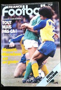 b)FRANCE FOOTBALL du 27/01/1981; Sochaux-Saint Etienne/ Spécial Tirage/ Menotti