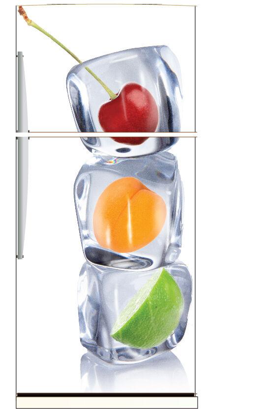 Aufkleber Kühlschrank Kühlschrank Früchte Eiswürfel 70x170cm Ref 6209