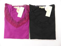NEW WOMENS SANDY BEACH LONG SLEEVE LACE TRIM TOP TEE SHIRT SIZE S,M,XL