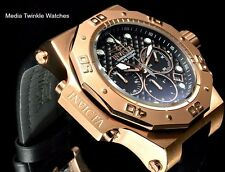 Invicta 50MM AKULA Quartz Chronograph Rose Gold Tone & Black Carbon Dial Watch