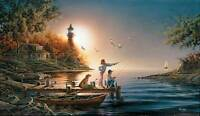 Terry Redlin From Sea To Shining Sea S/n Paper Limited Edition Fishing Boat