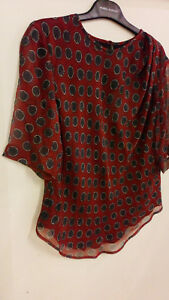 Burgundy Silk Étoile Dotted And Fr36 Draped Isabel