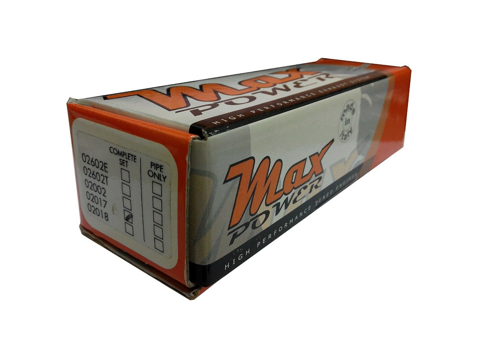 Max Power 1 8 OFFROAD PIPE SET, 02017B