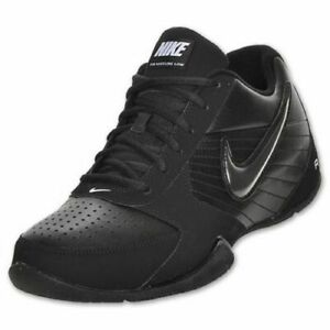 55e7fcb179db Nike Air Baseline Low Men Round Toe Basketball Shoe Black 386240-001 ...