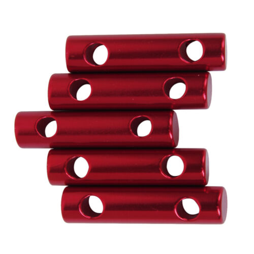 5pcs 7mm Alloy Cylinder Tent Guy Line Bent Runners Rope Line Tensioners Camping