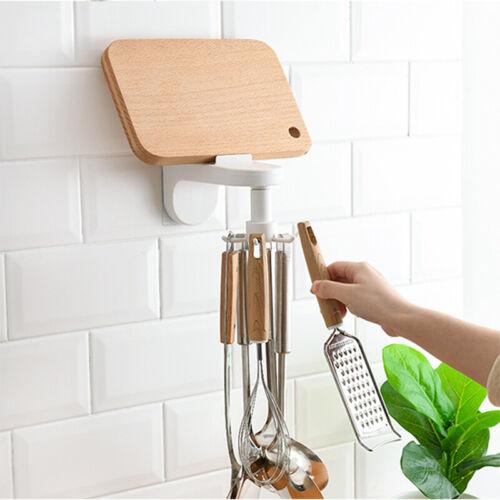 360 ° Drehbare Gestelle Halter Küchenregal Organizer Wandhalterung Lagerung